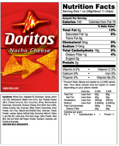 doritosnutrition